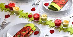 Wiese und Erdbeeren