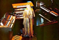 Rick Wakeman caped and in the mix.