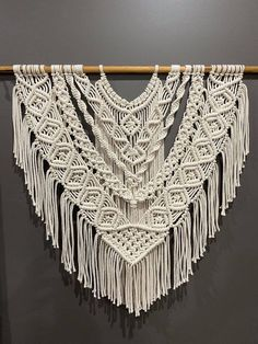 Macrame Design, Macrame Art, Macrame Projects, Micro Macrame, Macrame Mirror, Macrame Curtain, Macrame Wall Hanging Patterns, Large Macrame Wall Hanging, Macrame Patterns