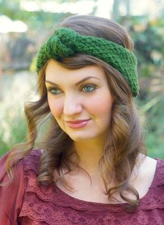 knitted vintage-inspired knotted headband