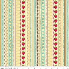 Fly A Kite Strawberry in Cream by October Afternoon, Riley Blake Designs
