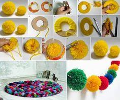 Mille idee casa: Come realizzare dei pom-pom per decorare la casa