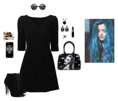 """""""Dark Personality"""" by hanakdudley ❤ liked on Polyvore featuring Dolce&Gabbana, Tabitha Simmons, Kenneth Jay Lane and Emi Jewellery"""