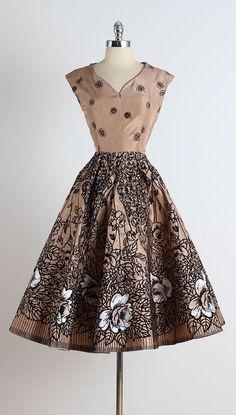 Carmelita Rose . vintage 1950s dress . 50s by millstreetvintage