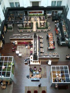 Restaurant Floor Plan, Restaurant Layout, Cafe Floor Plan, Hotel Floor Plan, Floor Plans, Restaurant Chairs, Hotel Lobby Design, Office Space Design, Office Interior Design