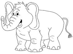 Baby Elephant Coloring Pages Cute Baby Elephant coloring page