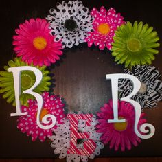 Baby girl wreath made for Reese Ross ~ by Lampy