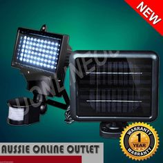 Solar Powered Sensor Light 60 Led Security Motion Detector Ultra Bright Lamp