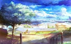 Image result for anime phong cảnh