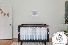 Reed's Starry Nursery: Beautiful space designed by Honey & Fitz featuring our Babyletto Hudson 3-in-1 Convertible Crib in White and Espresso