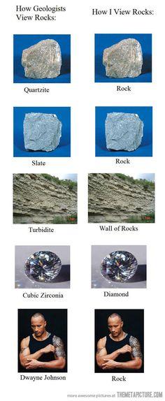 How I see rocks...