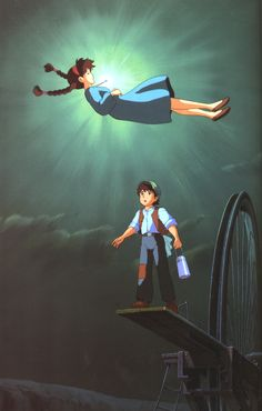 Castillo en el cielo Film Anime, Anime Songs, Anime Music, Hayao Miyazaki, Film Animation Japonais, Animation Film, Castle In The Sky, Studio Ghibli Collection, Bebe Anime