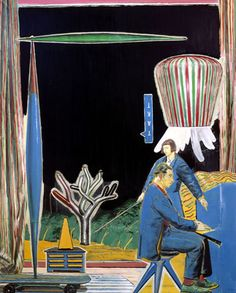 Neo Rauch  Takt  1999  Oil on canvas  98 3/8 x 78 3/4 inches (250 x 200 cm)