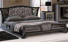 """Schlafzimmerbett Elizabeth 1,80m mitDiamantensplittern in 2 verschiedenen Farbvarianten erhältlich Das große Bett gehört zur Schlafzimmerkollektion """"Elizabeth"""". Zur Auswahl steht ein..."""