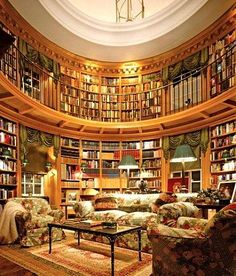 Trendy Home Library Loft Bedrooms Home Library Design, Dream Library, Library Ideas, Traditional Home Offices, Traditional House, Traditional Kitchens, Modern Staircase, Staircase Design, Spiral Staircases