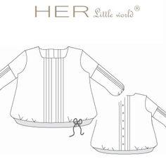 HER Little world, Patron de couture pour vêtement enfant, Tunique Mutine Teen