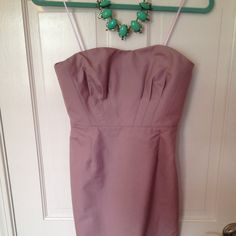 """NWOT J. Crew dusty lavender cocktail dress NWOT Size 6petite which if you look at their size charts is close to a size 4 just not as long because I'm 5,3"""" hits at knee. Sweetheart neckline, cotton cady, cocktail dress with boning and pockets, knee length, small back slit. Worn once in mint condition. J. Crew Dresses"""