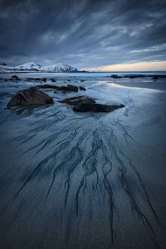 Skagsanden Beach, The Lofoten Islands, Norway.