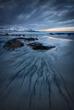 Skagsanden Beach, The Lofoten Islands, Norway.