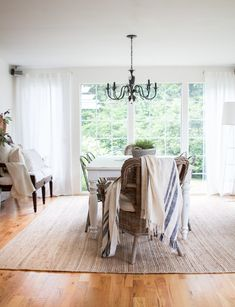 A summer home tour showing a small home with many DIY projects shared along the way...
