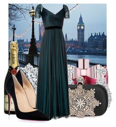 """""""Fancy Christmas party"""" by jacisummer ❤ liked on Polyvore featuring Viktor & Rolf, Harry Winston, Alexander McQueen, Christian Louboutin and Jenny Packham"""