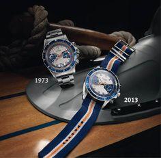 Montre Tudor Heritage Chrono Blue et son ainée le chronographe Tudor Montecarlo, référence 7169,copyright Tudor #Baselworld 2013 http://lovetime.fr/2013/04/29/baselworld-2013-zoom-sur-la-montre-tudor-heritage-chrono-blue/