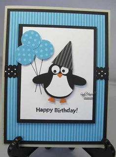 great idea for a birthday card using the owl punch                                                                                                                                                                                 More