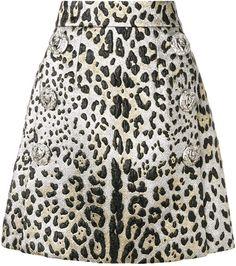 Dolce   Gabbana leopard print pelmet skirt Mini Jupe 2dcb49897a4