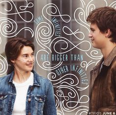 """""""Some infinities are bigger than other infinities."""" - Click through for my interview with John Green, author of The Fault in Our Stars (in theaters June Augustus Waters, Hazel Y Augustus, Hazel Grace Lancaster, Ansel Elgort, Shailene Woodley, The Fault In Our Stars, John Green Books, Bon Film, Cinema"""