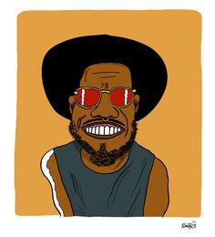Big Up au Fabuleux Anderson Paak. Anderson Paak, Hip Hop Art, Black Art, T Shirt, Artsy, Mood, Drawings, Music, Illustration
