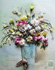Art Embroidered Painting by Chernichenco Lilia