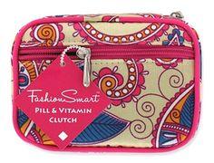 Fashion Smart Womens Pill and Vitamin Travel Pill Box Organizer