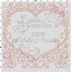 Love Forever Wedding Sampler by Berwickbay on Etsy, $1.50