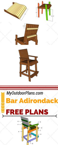 Learn how to build a bar height adirondack chair, so you add unique charm to your home. Follow the step by step adirondack chair plans for a super neat result! #diy #chair