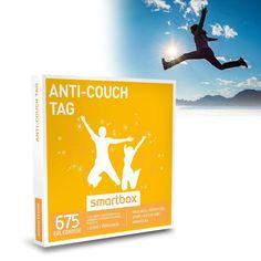 Dieser Erlebnisgutschein lockt jeden vom Sofa: Mit der Anti Couch Tag Erlebnisbox wählst Du aus 677 Aktivitäten aus den Bereichen Wellness, Frühstück, Sport, Kultur und Abenteuer. Was, wo und wann Du willst!