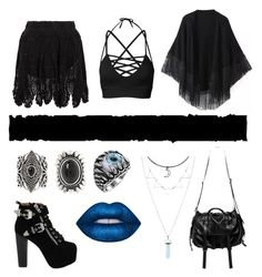"""""""Black Magic"""" by arsenicwitch on Polyvore featuring New Look, Jeffrey Campbell, Relaxfeel, Natalia Brilli and Lime Crime"""