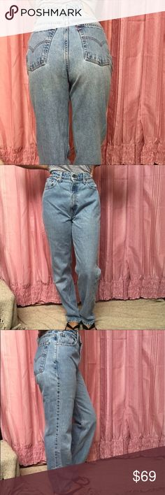 LEVI'S Vintage 512 High Waist STF Stonewash Jeans These Levi's 512 vintage Red Tab jeans are classic high waist, slim fit, straight leg in stonewashed light blue. 100% cotton, shrink to fit Levi's. The boyfriend jean. Creed on inside pocket.  Size 27 (vintage sizing!! -tagged 10 M) measurements are approximate: - 13.5 inches across waist  - 11.5 inch rise  - 19.5 inches across hips  - 30.5 inch inseam  - 7 inches across leg opening   No holes, pilling, stains, rips, or cuff wear. Wear around…