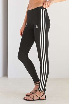 Slide View: 6: adidas Originals 3 Stripes Legging