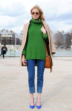Beige,green,camel,brown.....Now feel that I want to wear clothes like color blocking!