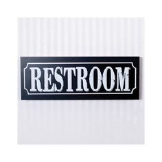 Found it at Wayfair - Restroom Sign Wall Décor
