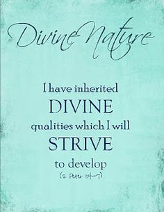 Young Women Value -Divine Nature!