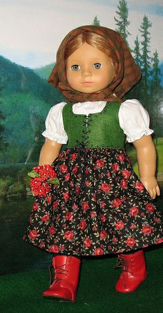 Kathy Keroack -- HEIDI 1 by Sugarloaf Doll Clothes, via Flickr  --  American Girl Doll