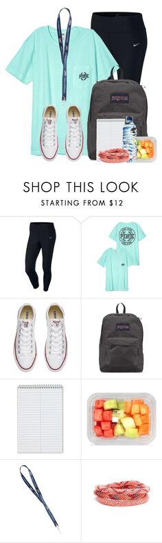 """Back to school next week"" by aweaver-2 on Polyvore featuring NIKE, Converse, JanSport and Aid Through Trade"