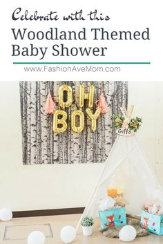 CELEBRATE WITH THIS WOODLAND THEMED BABY SHOWER. Adorable and easy diy baby shower.
