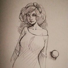 A shadow in white dress with a rubban on it :) #sketch #doodle #artonpaper Support my work on #Patreon : http://ift.tt/1RqclZE