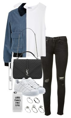 """""""Unbenannt #1463"""" by tyra482 ❤ liked on Polyvore featuring rag & bone, T By Alexander Wang, J.W. Anderson, Yves Saint Laurent, adidas Originals, ASOS, philosophy and Casetify"""