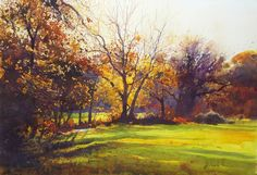 Richard Thorn - October Fire -  watercolor inks