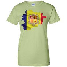 andorra flag -01 Ladies Custom 100% Cotton T-Shirt