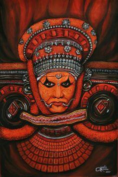 Shiva Art, Hindu Art, Kerala Mural Painting, Indian Art Paintings, Art Drawings Sketches, Mural Art, Geometric Art, Canvas Art, Kerala India