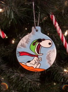 SNOOPY Flying ACE THE PILOT and Red Baron Christmas Ornament Tree 2012 PEANUTS 2 | eBay